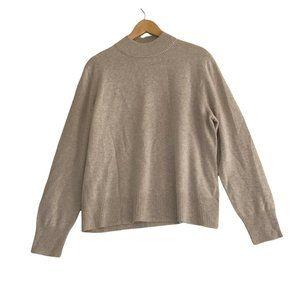 Investments Women's Size XL Beige Fine Cashmere Mock Neck Sweater